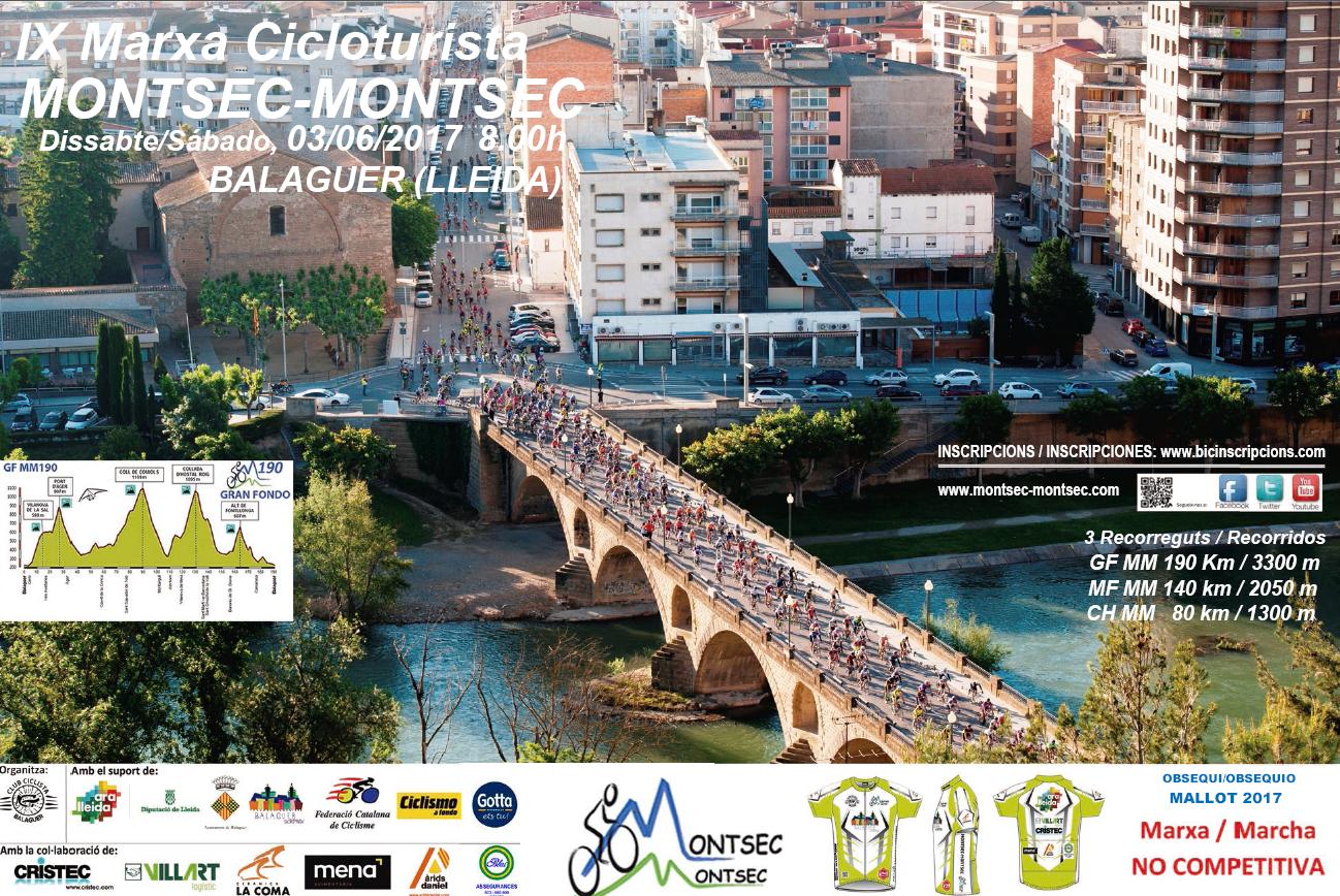 Cartell Marxa Edici 2017 Marxa Cicloturista Montsec Montsec # Mobles Roure Balaguer
